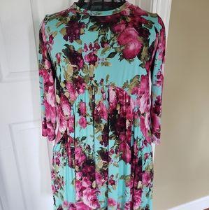 Filly Flair Boho floral short dress sz L